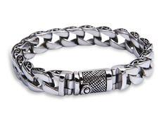 3de9737b9bba 925 joyería de plata esterlina sólida para hombre pulsera de cadena pesada  de china al por mayor b107