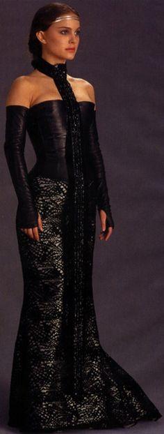 Natalie Portman as Senator Padme Amidala, /Attack of the Clones/. She has some fab clothes.