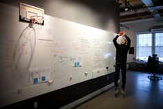 Collaboration Wall - by Teehan + Lax. Could do something similar on a large wall using whiteboard paint?
