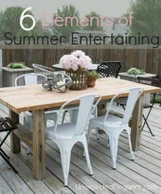 Find 6 things to make outdoor entertaining a success!