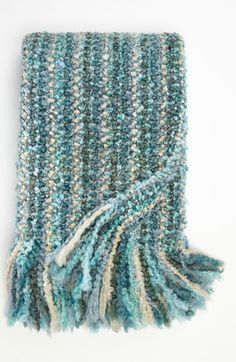 """""""Stria"""" Throw (from Kennebunk Home; Nordstrom) would love to make a rag rug like this so nice for by the tub"""