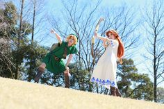 Link, Cremia, Romani Zelda cosplay group with @toku_maid_chief and @yzk919 | #MM3D