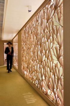 Luxury Hotel Madera Signature Suites, Hong Kong - check out that wall - beautiful pattern/texture