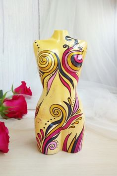 Female Torso, Female Art, Female Bodies, Mannequin Torso, Mannequin Art, Plaster Sculpture, Sculpture Art, Women Figure, Hand Painted Ornaments