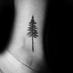 Pine tree tattoo ankle tatoo Ideas for 2019 Tree Tattoo Meaning, Tree Tattoo Men, Pine Tree Tattoo, Tree Tattoo Designs, Small Tattoos With Meaning, Small Tree Tattoos, Small Nature Tattoo, Evergreen Tree Tattoo, Tattoo Ideas