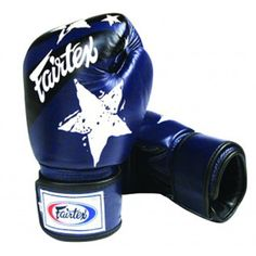 ef737c5eff0b Fairtex Nation Print Universal Boxing Gloves - 18 oz - Blue Sparring Gloves