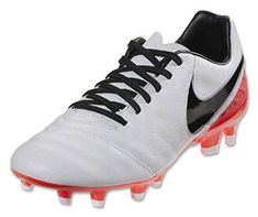 07d711748b1 Nike Women s Tiempo Mystic V FG (White Black Bright Crimson) -- Visit the  image link more details. (This is an affiliate link). Soccer ShoesSoccer ...