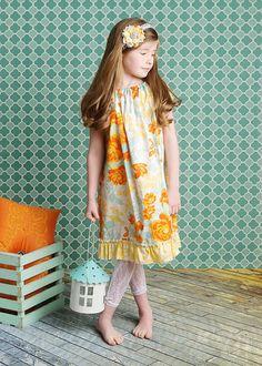 Spring peasant dress..CharmingNecessities...etsy