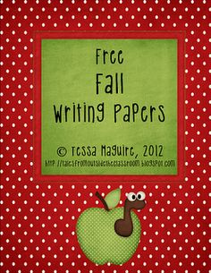 Free fall writing papers- perfect for your writing center