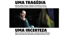 Jornais destacam Eduardo Campos em suas capas - Adnews - Movido pela Notícia