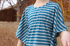 Simple Sewing Project: Butterfly Sleeve Shirt. Cute!