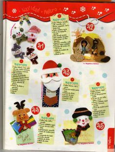 Revistas de Foamy gratis: Revista navideña fieltro y foami