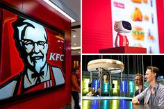 Drone WAITERS: Bars delivering drinks by air while KFC introduces robot workers