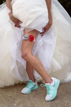 Nike Wedding Shoes, Sneaker Wedding Shoes, David Corey Photography as seen on TodaysBride.com