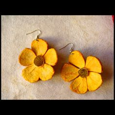 Orange peel earings
