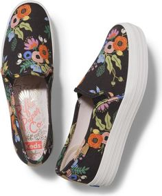 I like all of the rifle paper keds this spring.  This is a cute style, I would prefer it not to be platform