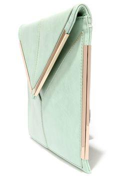 Secret Admirer Mint Green Clutch at Lulus.com!