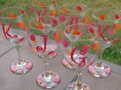 my girls glasses for pamper day included in the gift totes with initial