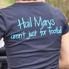 Hail Marys aren't just for football!  Awesome...