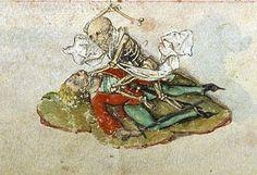 Skeleton attacks! ( Egerton 1146, 15th c.)  Германия