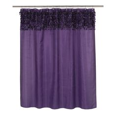 Carnation Home Jasmine Fabric Shower Curtain In Purple