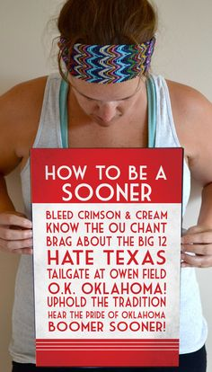 Sooner Art Print, OU Quote Poster Sign, Oklahoma Football Decor 11 x 17 on Etsy, $25.00