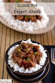 Easy Crock Pot Pepper Steak - Flour On My Face