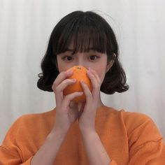 orange aesthetic top ulzzang girl 얼짱light korean soft minimalistic kawaii cute g e o r g i a n a : a e s t h e t i c s Orange Aesthetic, Korean Aesthetic, Aesthetic Colors, Aesthetic Photo, Aesthetic Girl, Aesthetic Pictures, Japanese Aesthetic, Ulzzang Short Hair, Ulzzang Korean Girl