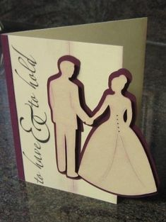 homemade cards cricut | DIY wedding invitations that were created using the Cricut.