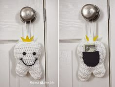 Crochet Tooth Fairy Pillow - Repeat Crafter Me