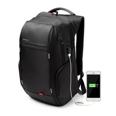 Kingsons Antitheft Notebook Backpack 15.6, 17.3 inch Waterproof Computer Backpack for Men Women External USB Charge Laptop Bag
