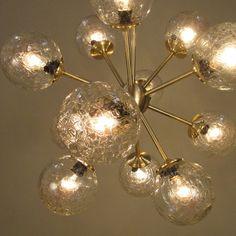 Vintage Glass Sputnik   Chandelier Fine Lighting
