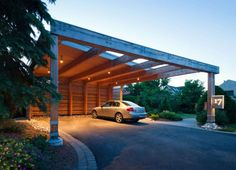 Beautiful revitalized car porch design check over here Carport Garage, Pergola Carport, Diy Pergola, Car Porch Design, House Design, Custom Home Designs, Custom Homes, Simple Porch Designs, Aluminum Carport
