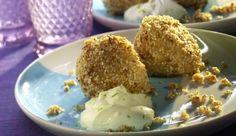 Ingwerknödel in Sesambröseln mit Limetten-Joghurt - ein verlockenes MAGGI Rezept aus der Kategorie Süßes. Einfach und schnell mit MAGGI Kochstudio.
