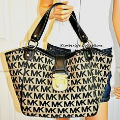 Michael Kors Bag on Sale! Charlton MK Signature Jacquard Large Purse Tote  NWT Authentic!