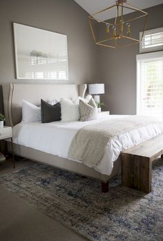 Modern Bedroom Ideas - Trying to find the best bedroom design ideas? Utilize these stunning modern bedroom ideas as ideas for your own fabulous designing scheme . Modern Bedroom Design, Master Bedroom Design, Contemporary Bedroom, Master Suite, Bedroom Designs, Dark Master Bedroom, Relaxing Master Bedroom, Bedroom Color Schemes, Bedroom Colors