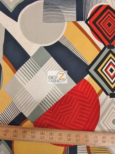 100% #Cotton Fabric By #AlexanderHenry / Mwamba Abstract / Sold By The Yard