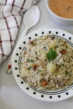 Sama or Moraiya ki khichdi recipe - Quick, easy and filling khichdi recipe made from vrat ke chawal or barnyard millet and cubed potato.