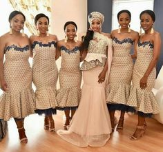 Top South African Shweshwe Dresses for Women , shweshwe dresses ,Sepedi Traditional Dresses, Xhosa Traditional fashion traditional . Wedding Dresses South Africa, African Wedding Attire, African Attire, African Dress, Printed Bridesmaid Dresses, African Bridesmaid Dresses, African Print Fashion, African Fashion Dresses, African Prints