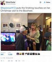 Image result for taylor swift surprises vet
