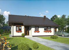 DOM.PL™ - Projekt domu MR MURATOR C310B RUMIANKOWY - WARIANT II CE - DOM MP9-16 - gotowy projekt domu