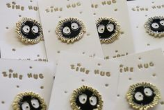 Released in conjunction with the Studio Ghibli Zine, this is a Soot Sprite, or Susuwatari, Pin.  1 die-cast hard enamel.  Get this for $6 by itself or $5 with the purchase of a Studio Ghibli Zine here.  Edition of 100.