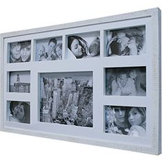 Painel de Fotos Bee Collection Rustic 43x68cm Branco Rústico/Branco para 9 Fotos - Kapos Tv Led, Gifts For Women, Polaroid Film, Rustic White, Photo Collage Board