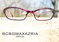 Have fun in pink and be bejeweled with this unique shape from #bcbgmaxazria! #eyewear #bcbg