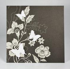 Butterflies Silhouette Card