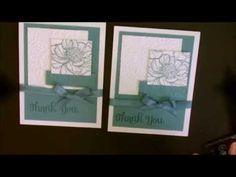 cardmaking video tutorial: Repurposing Your Embossing Folders with Deb Valder ... monochromatic too ...