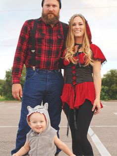 Little Red Riding Hood. Halloween 2015  Infant big bad wolf, mommy red riding hood and daddy the lumberjack