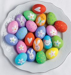 Colorful and cute Easter Eggs