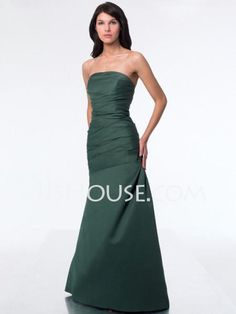 Bridesmaid Dresses - $88.99 - A-Line/Princess Strapless Floor-Length Satin Bridesmaid Dresses With Ruffle (007001894) http://jjshouse.com/A-line-Princess-Strapless-Floor-length-Satin-Bridesmaid-Dresses-With-Ruffle-007001894-g1894