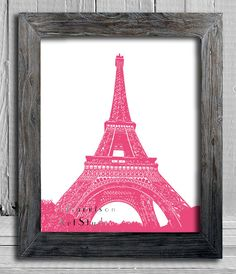 Eiffel tower art print  Paris decor  French flea by EEartstudio, $9.99 with black frame for Katelyn's room